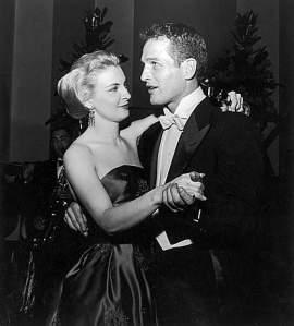 Newman con la moglie Joanne Woodward (Emmevì)